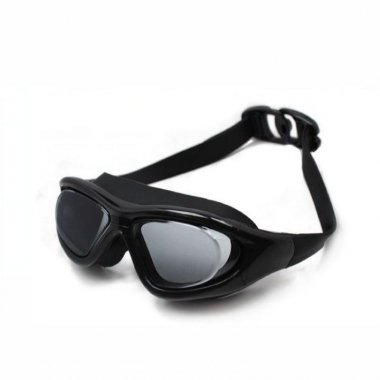 Oversized Frame Black Swimming Safety Goggles
