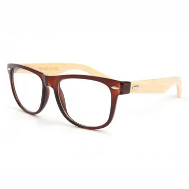 Bamboo Temple Brown Square Glasses Frame